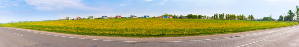 Belarussian villiage - agrotown Stock Image