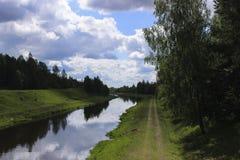 Belarussische Landschaften Stockfotos