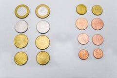 Belarussische Münzen sind auf dem Tisch Lizenzfreie Stockfotos