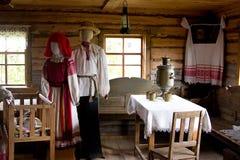 Belarussisches Dorf Haus Lizenzfreies Stockbild