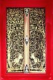 Belas artes na porta do templo Imagem de Stock Royalty Free