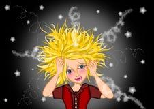 belasta kvinnan vektor illustrationer