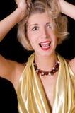 belastad blond flicka Fotografering för Bildbyråer