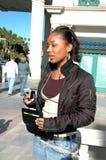 belastad kvinna Royaltyfri Fotografi