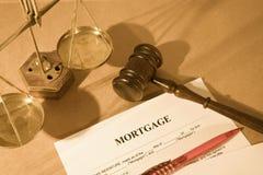 Belasten Sie Formular hypothekarisch stockfoto