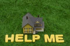 Belasten Sie Krise hypothekarisch Stockbild