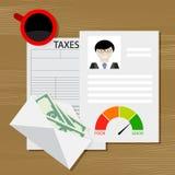 Belasting op krediet stock illustratie