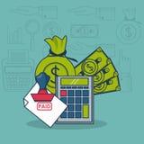 Belastingen en investering stock illustratie
