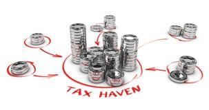 Belastingontwijkingsconcept Stock Afbeeldingen