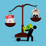 Belastingsbetaling Stock Afbeelding