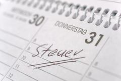 Belastingsdag in Duitsland Stock Afbeelding