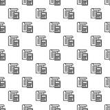 Belastingsdocument naadloos patroon stock illustratie