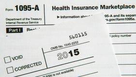 Belastingsvormen voor Betaalbaar Gezondheidszorgakte Stock Foto