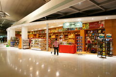 Belastingvrij bij Luchthaven Suvarnabhumi royalty-vrije stock foto