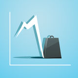 Belastung des Geschäfts stock abbildung