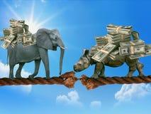 Belastung des Geschäfts Eine Metapher für Unternehmensausfall stockfotografie