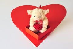 Belato-agnello con un cuore Immagini Stock