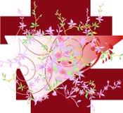 Belaubte abstrakte mit Blumenauslegung Lizenzfreies Stockfoto