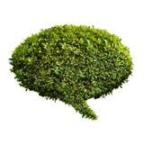 Belaubte grüne Spracheluftblase Stockbild