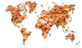 Belaubte Karte von Erde Lizenzfreies Stockfoto