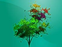Belaubter Baum des Herbstes Stockbild