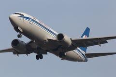 Belavia波音737-300航空器 库存照片
