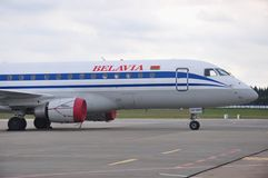Belavia Airlines Cockpit Royalty Free Stock Photo