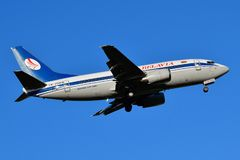 Belavia Belarusian Airlines Boeing 737 royalty free stock photos