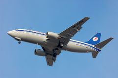 Belavia Boeing 737 Lizenzfreie Stockbilder