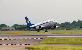 Belavia Boeing 737 Royalty Free Stock Photography