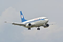 Belavia plane view Stock Images