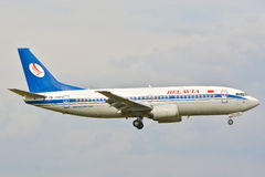 Belavia plane view Royalty Free Stock Images