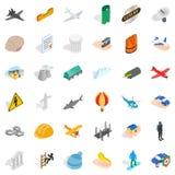 Belay icons set, isometric style. Belay icons set. Isometric style of 36 belay vector icons for web isolated on white background Royalty Free Stock Image