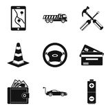 Belay icons set, simple style Royalty Free Stock Image