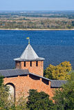 Belaya tower of Nizhny Novgorod kremlin Royalty Free Stock Images