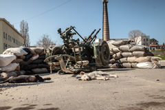 Belbek military base ?4515 in Crimea, Ukraine Royalty Free Stock Photography