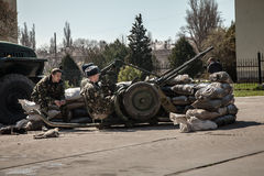 Belbek military base ?4515 in Crimea, Ukraine Stock Photo