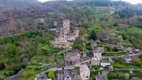 Belcastel: Castle and Village, Aveyron department, South France stock video