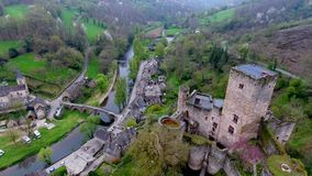 Belcastel: Castle and Village, Aveyron department, South France stock video footage