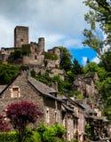 Belcastel miasteczko i zdjęcia royalty free