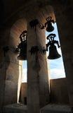 Belces de la catedral de Caceres, Extremadura, España Imagen de archivo libre de regalías