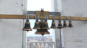 Belces en belltower de la iglesia Foto de archivo libre de regalías