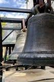 Belces en el pie del campanario de la catedral de StSopfia Imagen de archivo
