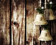 Belces en la pared de madera Foto de archivo libre de regalías