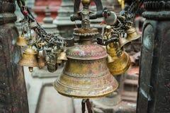 Belces en Swayambhunath Stupa en Katmandu, Nepal Fotos de archivo libres de regalías
