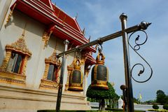 Belces en templos budistas imagen de archivo