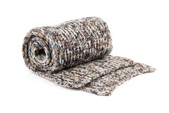 Belcher. Tortile multicolor wool belcher over white background Stock Image