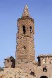 Belchite χωριό που καταστρέφεται σε έναν βομβαρδισμό κατά τη διάρκεια του ισπανικού εμφύλιου πολέμου Στοκ Εικόνες