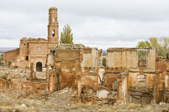Belchite. The old memorial of belchite in aragon Royalty Free Stock Photography