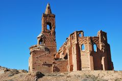 Belchite. Abandoned town. Belchite, in Spain Royalty Free Stock Photos